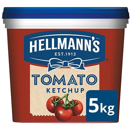 Hellmann's Tomātu kečups 5 kg - Hellmann's kečups no augstākās kvalitātes ilgtspējīgi iegūtiem tomātiem.